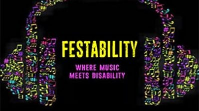 Festability logo where music meets disability